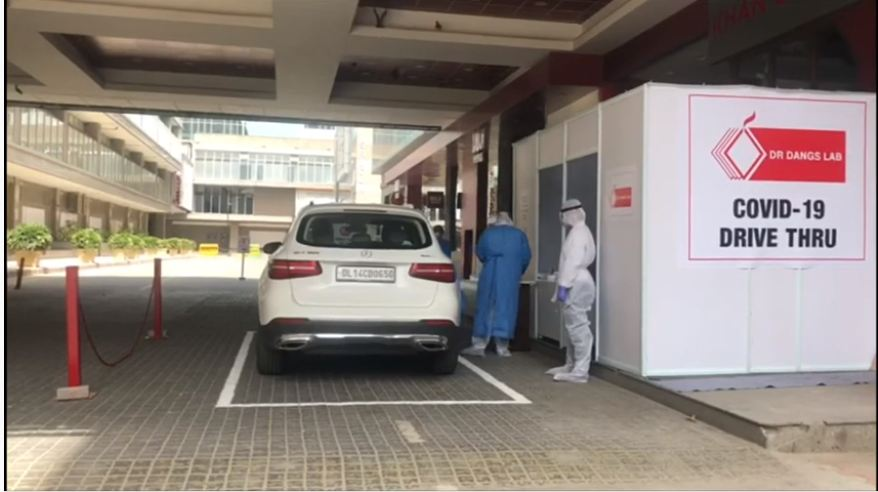 DRIVE THRU TEST FOR CORONA VIRUS - COVID 19